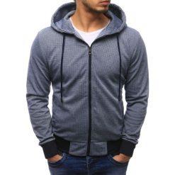 Bluzy męskie: Bluza męska rozpinana z kapturem granatowa (bx1601)