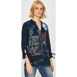 Desigual - Koszula. Szare koszule damskie marki Desigual, l, z bawełny, z długim rękawem. Za 299,90 zł.