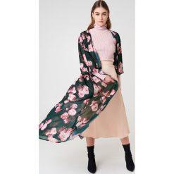NA-KD Boho Szyfonowa sukienka płaszczowa - Pink,Green,Multicolor. Niebieskie długie sukienki marki NA-KD Boho, na imprezę, w koronkowe wzory, z koronki, boho, na ramiączkach. Za 121,95 zł.