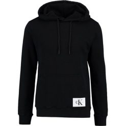 Kardigany męskie: Calvin Klein Jeans HOMEROS SLIM FIT POPOVER Bluza z kapturem black