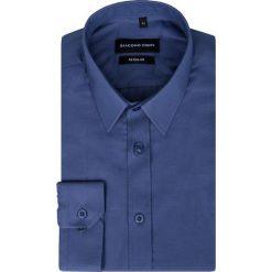 Koszula SIMONE KDGR000257. Niebieskie koszule męskie na spinki marki bonprix, m, z nadrukiem, z klasycznym kołnierzykiem, z długim rękawem. Za 149,00 zł.