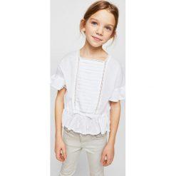 Mango Kids - Top dziecięcy Ale 110-164 cm. Szare bluzki dziewczęce bawełniane Mango Kids. W wyprzedaży za 49,90 zł.