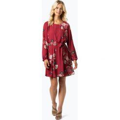 Vila - Sukienka damska – Lucy, czerwony. Czerwone sukienki balowe marki Vila, w kwiaty, z klasycznym kołnierzykiem. Za 259,95 zł.