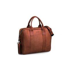 Jasno brązowa męska torba na ramię brodrene bl01, Kolor wnętrza: Czerwony. Brązowe torby na ramię męskie Brødrene, ze skóry. Za 350,00 zł.