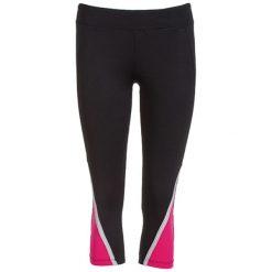 Legginsy: Legginsy w kolorze czarno-różowym