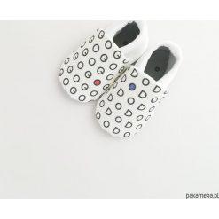 Miękkie buciki Go&Do. Szare buciki niemowlęce chłopięce Pakamera, z bawełny. Za 70,00 zł.