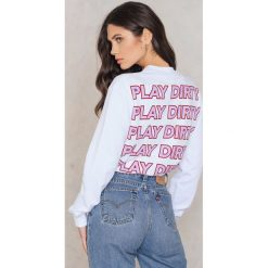Bluzy damskie: NA-KD Trend Bluza Play Dirty – White,Multicolor