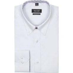 Koszula navia 1978 długi rękaw custom fit biały. Białe koszule męskie jeansowe marki Recman, m, button down, z długim rękawem. Za 69,99 zł.