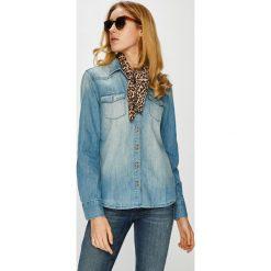 Mustang - Koszula. Niebieskie koszule damskie marki Mustang, s, z bawełny, casualowe, z klasycznym kołnierzykiem, z długim rękawem. W wyprzedaży za 239,90 zł.