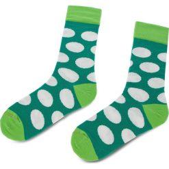 Bielizna: Skarpety Wysokie Unisex CUP OF SOX - Zielone Skarpety W Białe Grochy D Kolorowy Zielony