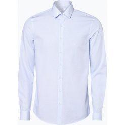 Calvin Klein - Koszula męska, niebieski. Pomarańczowe koszule męskie na spinki marki Calvin Klein, l, z bawełny, z okrągłym kołnierzem. Za 299,95 zł.