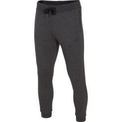 Spodnie dresowe męskie: Spodnie dresowe męskie SPMD300 – ciemny szary melanż