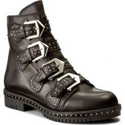 Botki CARINII - B4200 E50-000-PSK-C50. Czarne buty zimowe damskie Carinii, ze skóry, na obcasie. W wyprzedaży za 279,00 zł.