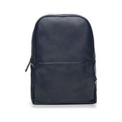 Granatowy elegancki plecak miejski Solier ADVENTURE. Szare plecaki męskie Solier, ze skóry ekologicznej. Za 189,00 zł.