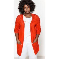 Swetry damskie: Długi sweter z włóczki