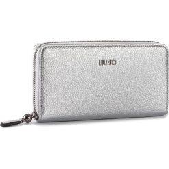 Duży Portfel Damski LIU JO - Xl Zip Around Arizona A18177 E0086 Silver 00532. Czarne portfele damskie marki Liu Jo, z materiału. W wyprzedaży za 269,00 zł.