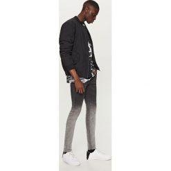 Rurki męskie: Cieniowane jeansy skinny - Szary
