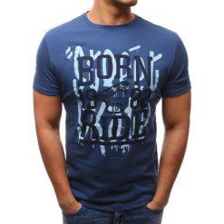 T-shirty męskie z nadrukiem: T-shirt męski z nadrukiem niebieski (rx2656)