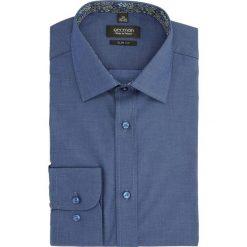 Koszula bexley 2437 długi rękaw slim fit granatowy. Szare koszule męskie slim marki Recman, na lato, l, w kratkę, button down, z krótkim rękawem. Za 139,00 zł.
