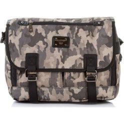 TORBA MĘSKA LISTONOSZKA BAG STREET. Szare torby na ramię męskie marki Bag Street, w paski, na ramię. Za 79,90 zł.