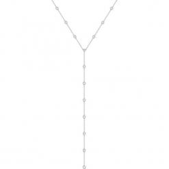 Srebrny naszyjnik - (D)41 cm. Żółte naszyjniki damskie marki METROPOLITAN, pozłacane. W wyprzedaży za 139,95 zł.