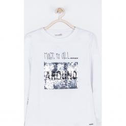 Koszulka. Białe bluzki dziewczęce bawełniane MAGICAL, z aplikacjami, z długim rękawem. Za 55,90 zł.