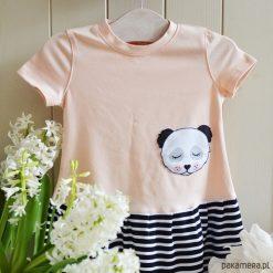Sukienka panda na lato. Szare sukienki niemowlęce Pakamera, na lato, z bawełny. Za 119,00 zł.