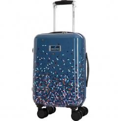 Walizka w kolorze niebieskim - 32 l. Niebieskie walizki Bagstone & Travel One, z materiału. W wyprzedaży za 239,95 zł.