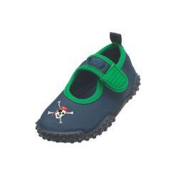 Playshoes  Boys Buty Aqua Pirat kolor marine - niebieski. Niebieskie buciki niemowlęce chłopięce marki Born2be, z materiału, z okrągłym noskiem, na obcasie. Za 49,00 zł.