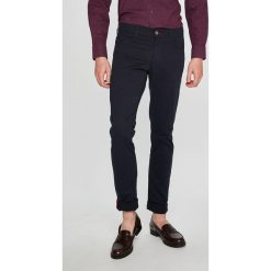 Trussardi Jeans - Spodnie. Niebieskie chinosy męskie marki House, z jeansu. Za 369,90 zł.