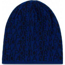 Czapka EMPORIO ARMANI - 404577 8A528 12533 Royal Blue/Dark Blu. Niebieskie czapki zimowe damskie Emporio Armani, z materiału. Za 229,00 zł.