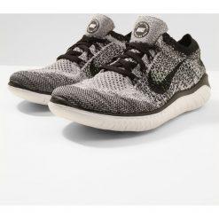Nike Performance FREE RN FLYKNIT 2018 Obuwie do biegania neutralne white/black. Czarne buty do biegania damskie marki Nike Performance, z materiału. Za 549,00 zł.