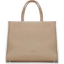 Torebka damska 86-4E-202-9. Białe torebki klasyczne damskie Wittchen, w paski, duże. Za 319,00 zł.