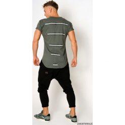 T-shirt lampasy khaki. Czarne t-shirty męskie marki Pakamera, m, z kapturem. Za 99,00 zł.