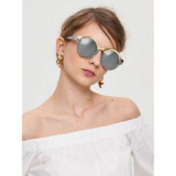 Okulary przeciwsłoneczne damskie: Okrągłe okulary przeciwsłoneczne – Wielobarwn
