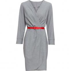 Sukienka bonprix czarno-biały wzorzysty. Brązowe sukienki z falbanami marki Mohito, l, z kopertowym dekoltem, kopertowe. Za 109,99 zł.