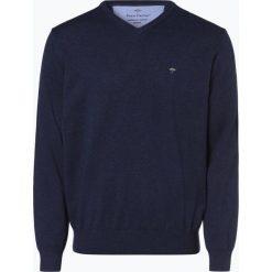 Fynch Hatton - Sweter męski, niebieski. Niebieskie swetry klasyczne męskie Fynch-Hatton, m, z bawełny, z klasycznym kołnierzykiem. Za 249,95 zł.