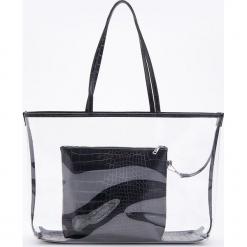 Torba transparentna - Czarny. Czarne torebki klasyczne damskie Reserved. Za 119,99 zł.