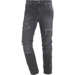 YOURTURN Jeansy Slim Fit dark gray. Niebieskie rurki męskie marki Tiffosi. Za 149,00 zł.