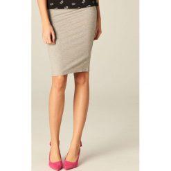 Spódniczki: Elegancka ołówkowa spódnica – Jasny szar