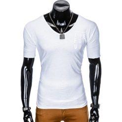 T-SHIRT MĘSKI Z NADRUKIEM S956 - BIAŁY. Białe t-shirty męskie z nadrukiem Ombre Clothing, m. Za 19,99 zł.