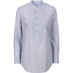Bluzki asymetryczne: Bluzka bonprix indygo-biały w paski