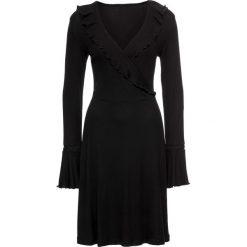 Sukienki: Sukienka shirtowa z falbanami bonprix czarny