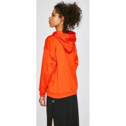 Adidas Originals - Bluza. Szare bluzy rozpinane damskie adidas Originals, l, z nadrukiem, z materiału, z krótkim rękawem, krótkie, z kapturem. W wyprzedaży za 249,90 zł.