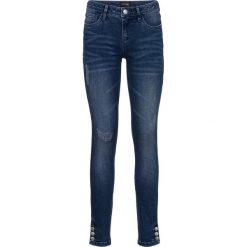 """Dżinsy SKINNY bonprix niebieski """"medium denim"""". Niebieskie jeansy damskie marki House, z jeansu. Za 109,99 zł."""