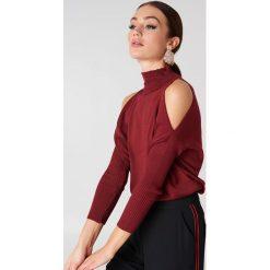 Golfy damskie: Trendyol Sweter z odkrytymi ramionami – Red