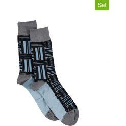 Skarpetki męskie: Skarpety (2 pary) w kolorze szaro-błękitnym