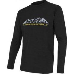 Odzież termoaktywna męska: Sensor Koszulka Termoaktywna Z Długim Rękawem Merino Wool Pt M Black Mountains M