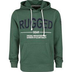 Produkt Rugged Hood Sweat Bluza z kapturem zielony. Zielone bluzy męskie rozpinane Produkt, l, z nadrukiem, z kapturem. Za 79,90 zł.