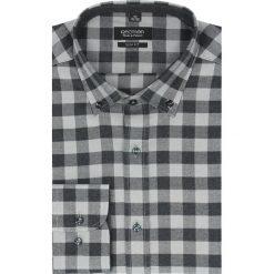 Koszula bexley f2503 długi rękaw slim fit szary. Szare koszule męskie jeansowe Recman, m, button down, z długim rękawem. Za 99,99 zł.